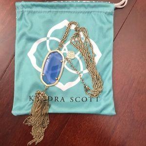 Kendra Scott Rayne Tassel Necklace blue